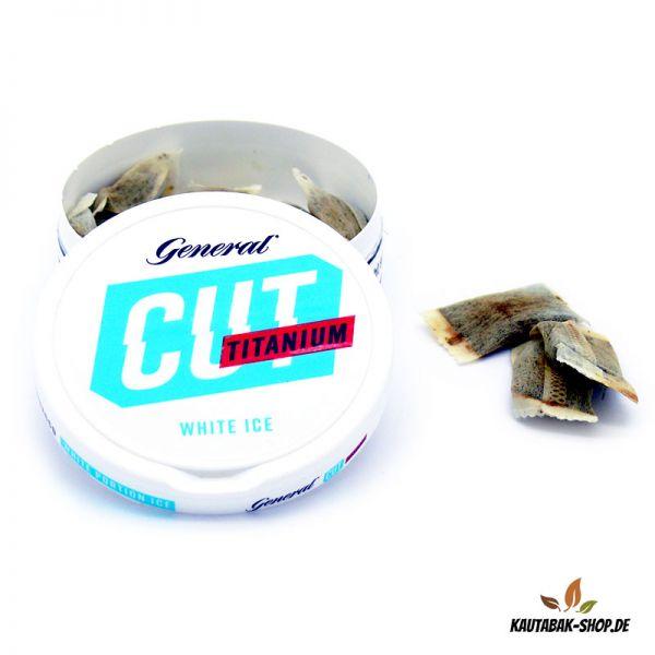 Kautabak General CUT Titanium White Ice 21,6g