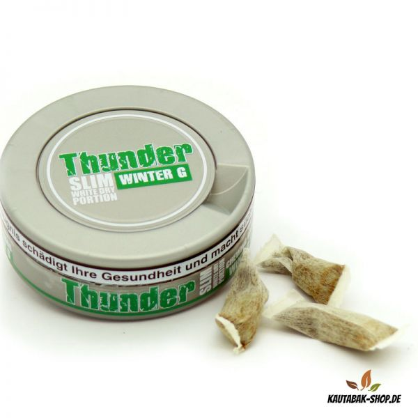Kautabak Thunder Winter G Slim White Dry 13,2g