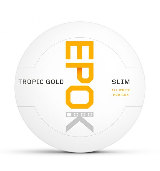 Kautabak EPOK Tropic Gold Einsteiger All White Slim 14g
