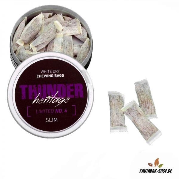 Kautabak Thunder Heritage No.4 Slim White Dry 13,2g