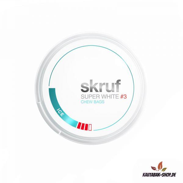 Kautabak skruf Super White ICE #3 Slim 17g
