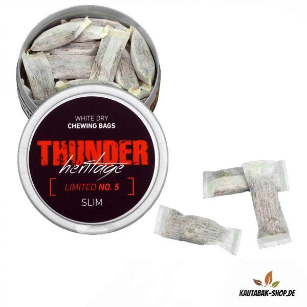 Kautabak Thunder Heritage No.5 Slim White Dry 13,2g