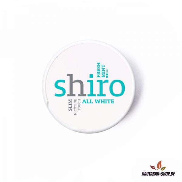 Nicotine Pouches Shiro Slim Fresh Mint 12g